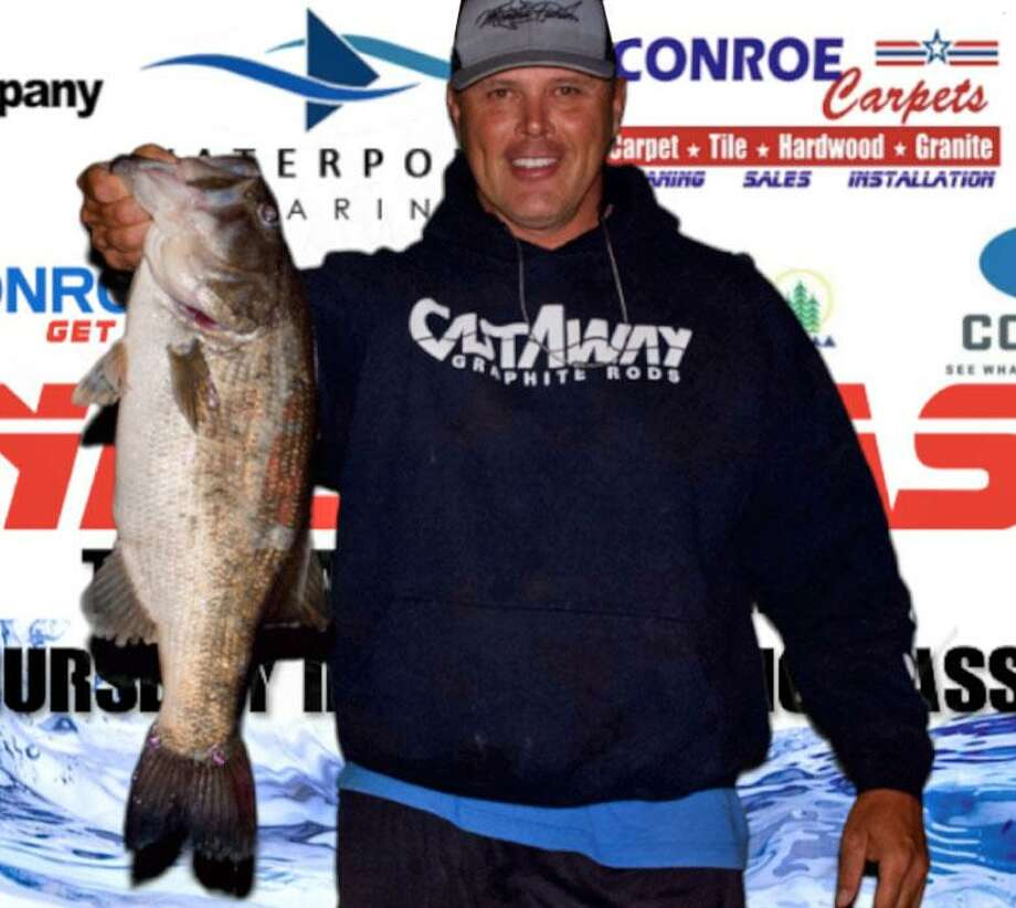 Ronnie Wagner won the CONROEBASS Thursday Big Bass Tournament with a bass weighing 7.44 pounds. Photo: CONROEBASS / Submitted