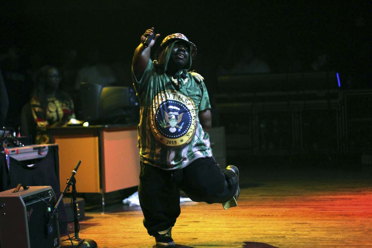 HOUSTON, TX - JUNE 11: (L-R) Bushwick Bill of The Geto Boys perform in concert at the House of Blues on June 11, 2015 in Houston, Texas. (Photo by Marco Torres/HOU/VMG via Getty Images)