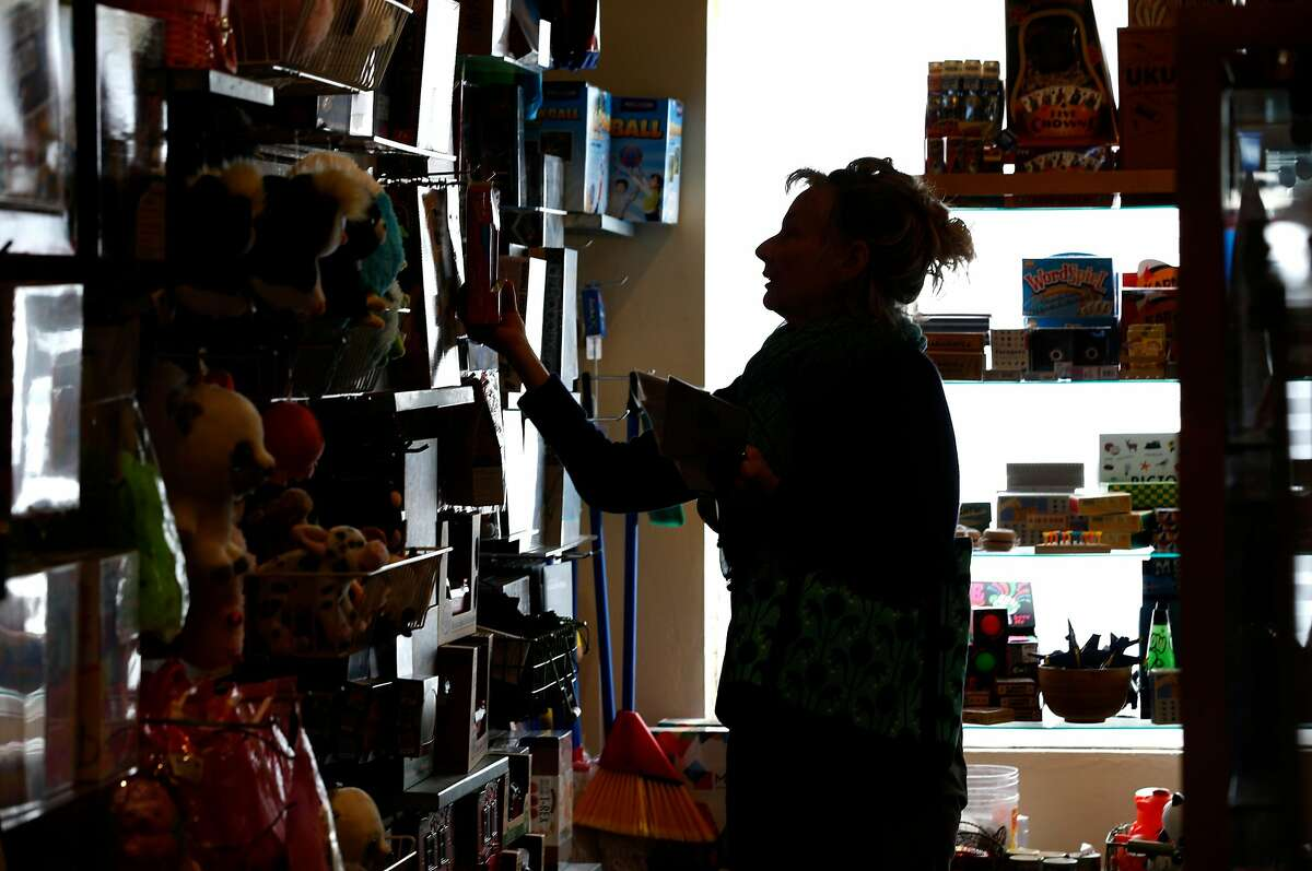 Mary Stafford shops at the Heartfelt gift store on Cortland Avenue in San Francisco, Calif. on Tuesday, April 30, 2019, which is closing after 25 years in Bernal Heights later this summer.
