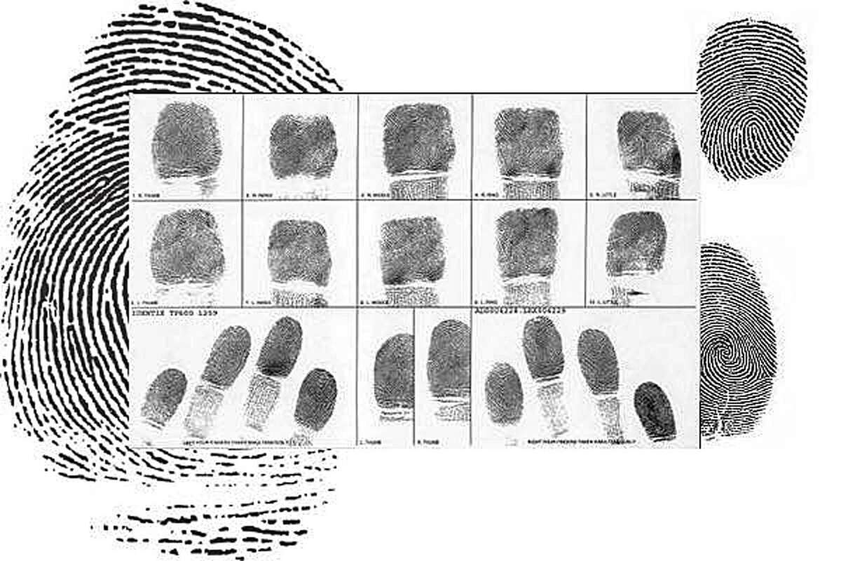 File photo of fingerprints provided by the Fairfield, Conn., Police Department.