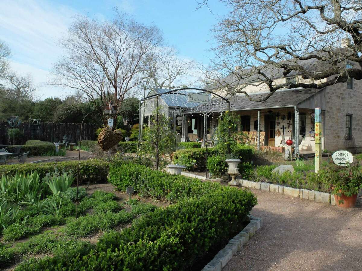 The bistro at the Fredericksburg Herb Farm is surrounded by casual gardens.