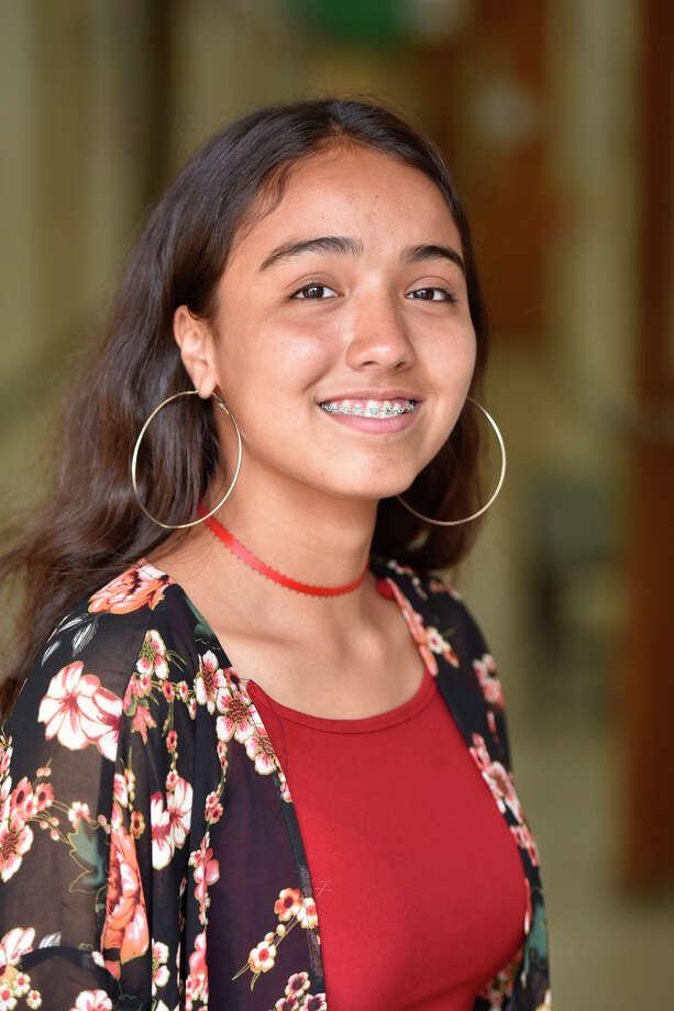 Early College High School valedictorian Anabel Machuca,  May 1, 2019. James Durbin/Reporter-Telegram Photo: James Durbin / Midland Reporter-Telegram / ? 2019 All Rights Reserved