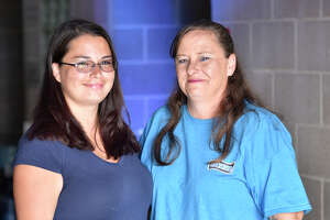 Heather Torres, left, and her mother Kelly Dyer, right, pose for a photo May 1, 2019 at Casa de Amigos. James Durbin/Reporter-Telegram