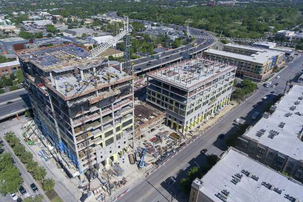 The Credit Human building is under construction on the booming lower Broadway corridor.