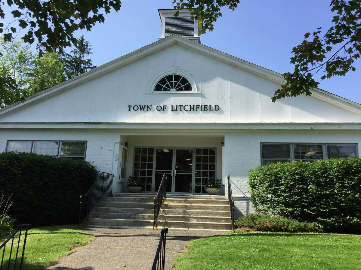 Staff at the Litchfield Town Hall is asking residents to call ahead before visiting during the coronavirus crisis. First Selectwoman Denis Raap said she is waiting on holding online meetings, but that the Board of Selectmen's are broadcast from Facebook Live twice a month.