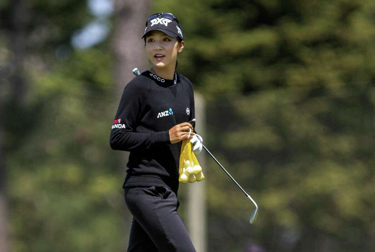 Lydia Ko practices at Lake Merced Golf Club on Wednesday. Once the world No. 1 golfer, she hasn't won since her victory in a playoff at Lake Merced last year.