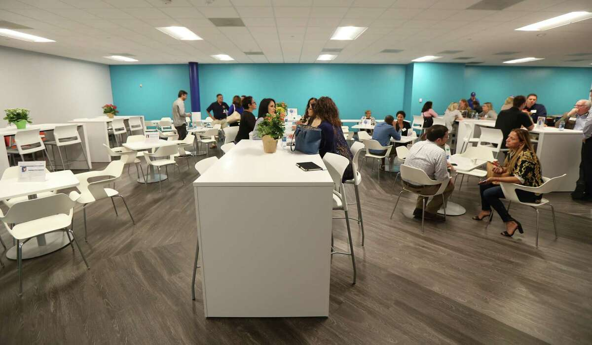 A view inside Ford's new call center break room Wednesday, May 1, 2019, in Houston.