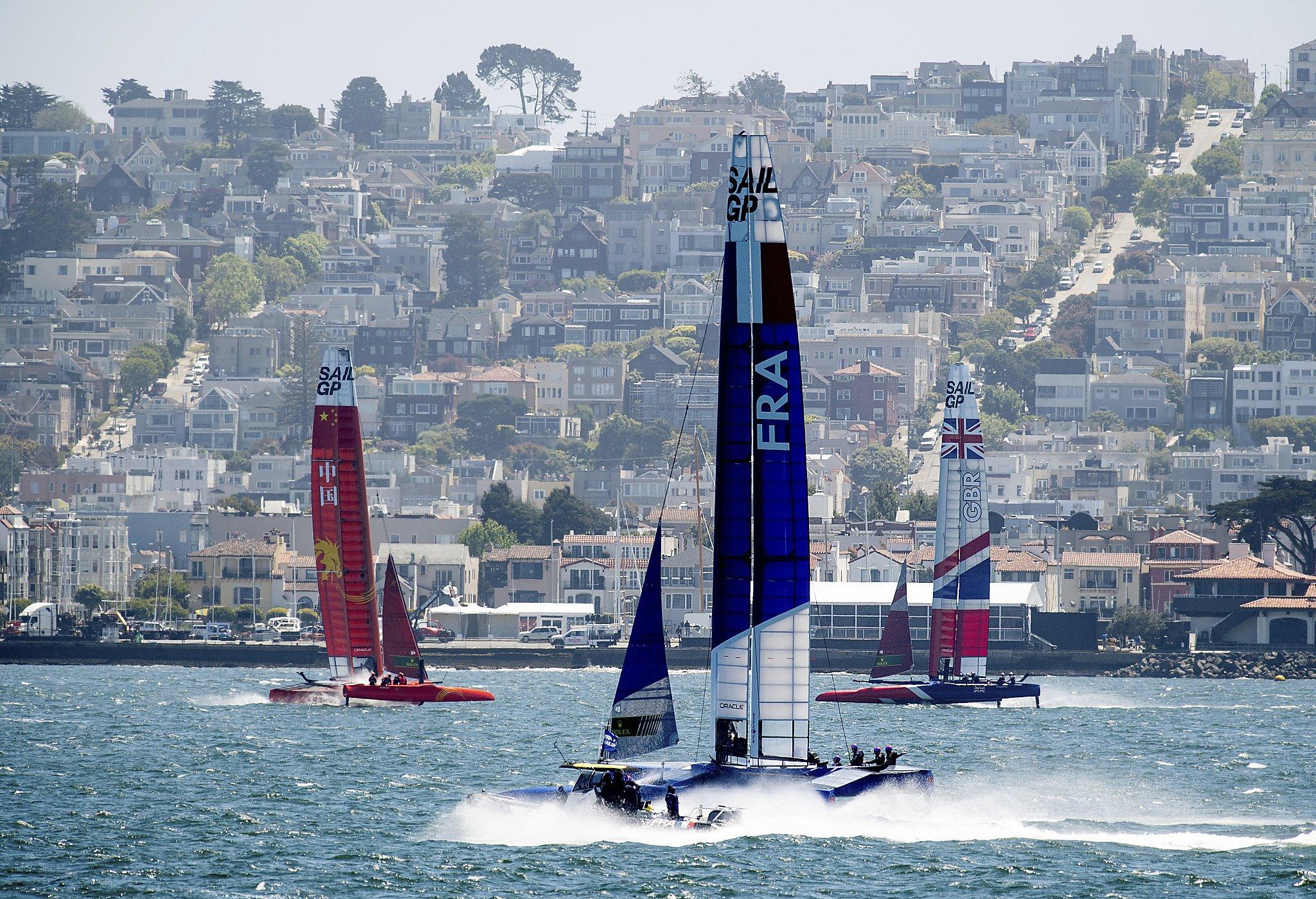 SailGP brings the world's fastest sailboats to the bay