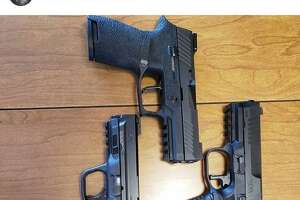 """An Instagram post from Jeffrey Wilson on Tuesday shows five handguns and is captioned: """"Pick one..."""""""