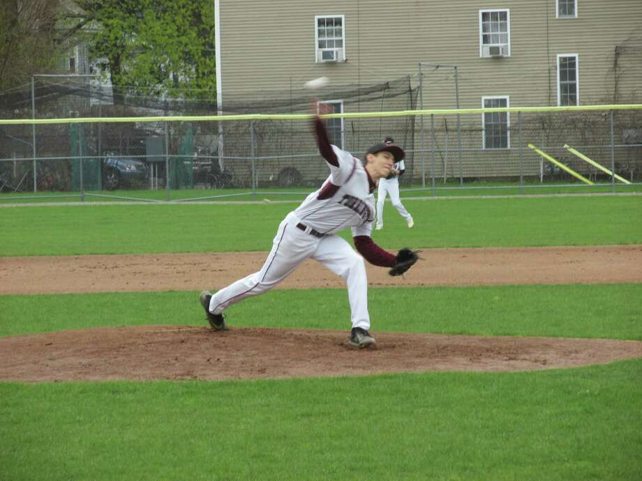Torrington pitcher C.J. Root threw 12 strikeouts in 6.1 innings for his part of a Red Raider no-hitter against Crosby Wednesday afternoon at Torrington's Fuessenich Park. Photo: Peter Wallace / Special To Hearst Connecticut Media
