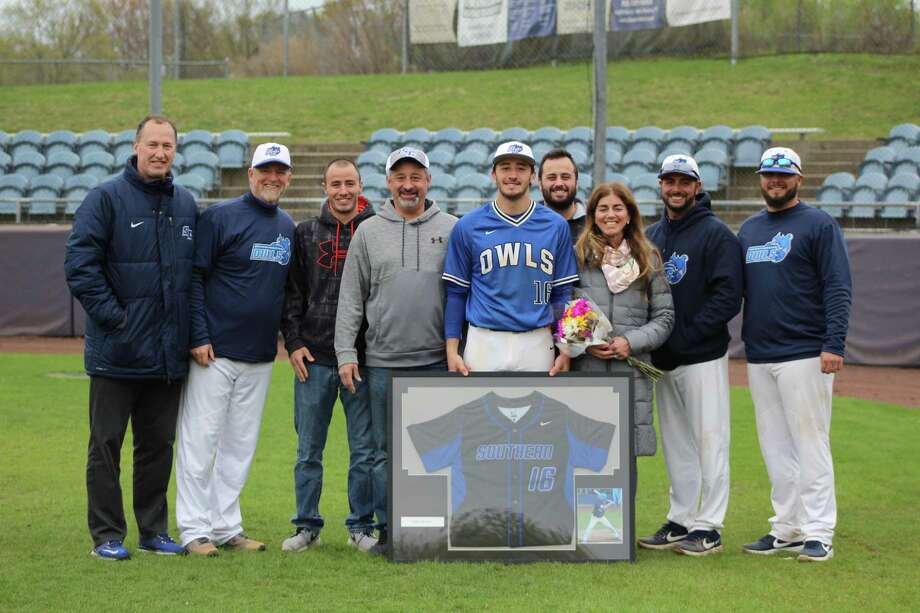The Criscuolo family at Senior Day for the Southern Connecticut State baseball team May 1, 2019. Photo: Southern Connecticut State Athletics