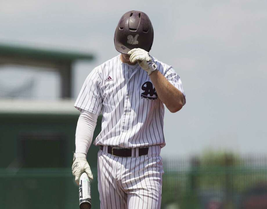 In this file photo, Bo Willis (12) of Magnolia reacts after during the sixth inning of a Region III-5A bi-district playoff game, Saturday, May 5, 2018, in Mumford. Photo: Jason Fochtman, Staff Photographer / Houston Chronicle / © 2018 Houston Chronicle