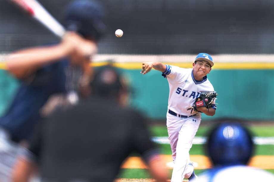 Juan Gonzalez and St. Augustine fell in the first round of the playoffs Wednesday against Houston Second Baptist. This was the Knights' first postseason appearance since 2011. Photo: Cuate Santos /Laredo Morning Times / Laredo Morning Times