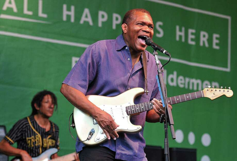 New Haven-- Robert Cray and the Robert Cray band   perform on the New Haven Green Sunday night.    Photo-Peter Casolino/New Haven Register  Cas110723   7/23/11