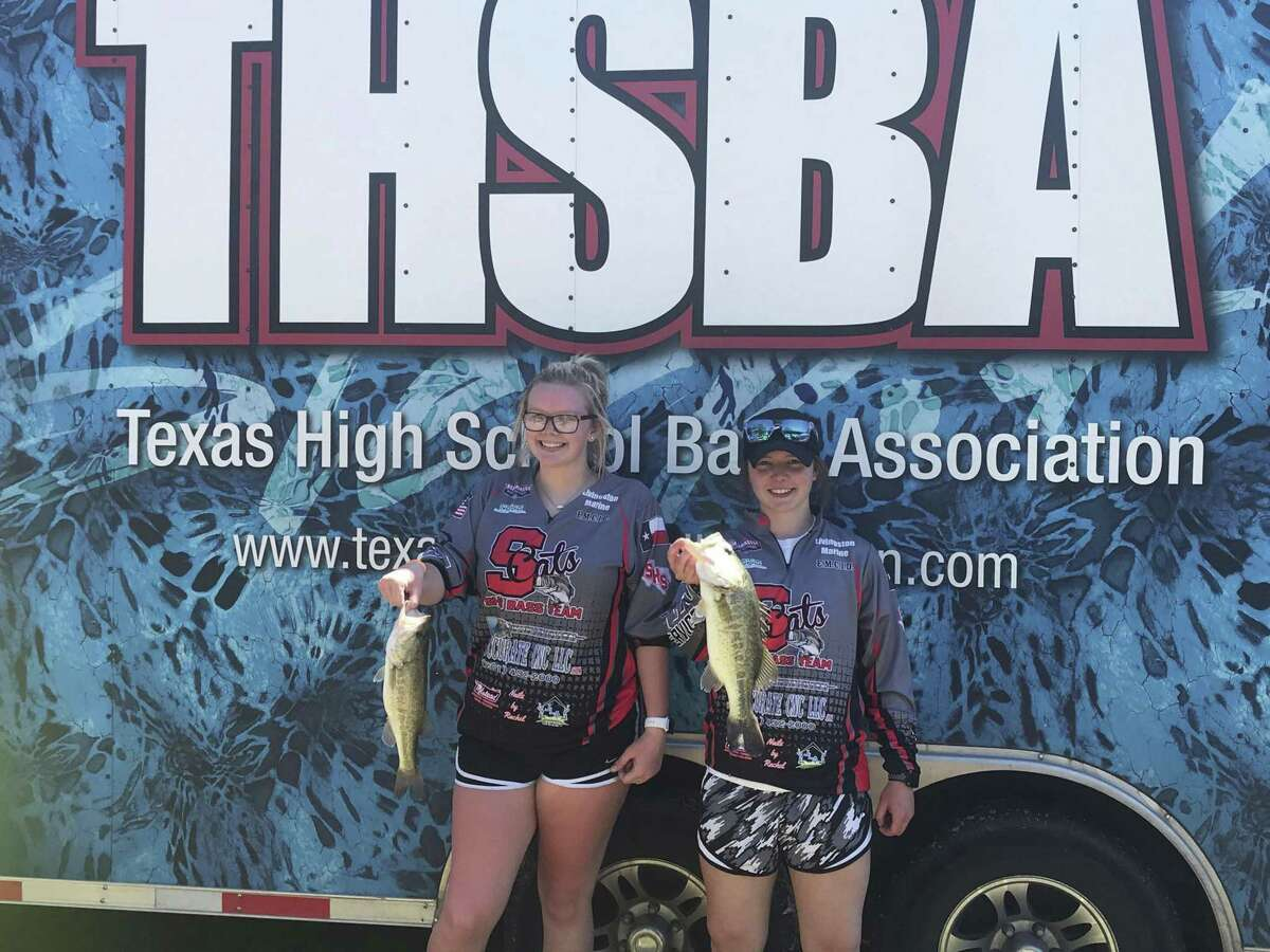 JT Key and Connor McCleskey, Splendora High students, at the regional Texas High School Bass Association State Tournament that took place at Lake Somerville recently.