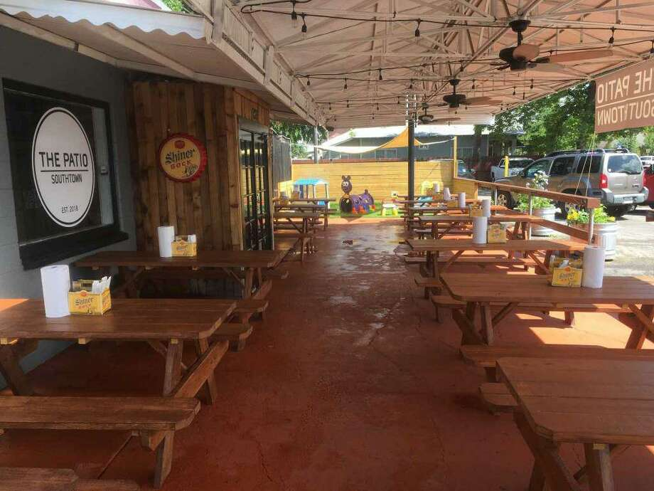 The outdoor patio area that gave The Patio Southtown its substance. Photo: Chuck Blount /Staff File Photo
