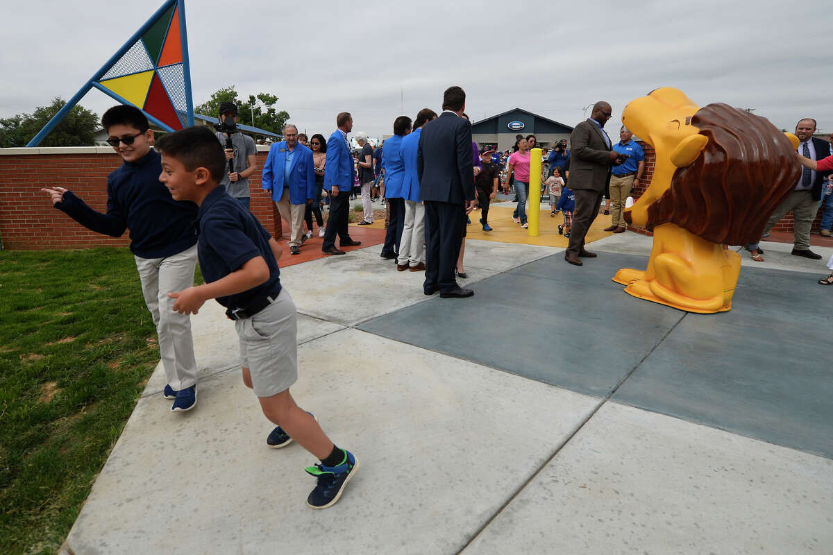 Midlanders gather for the opening celebration of the renovated Dennis the Menace park, May 2, 2019. James Durbin/Reporter-Telegram