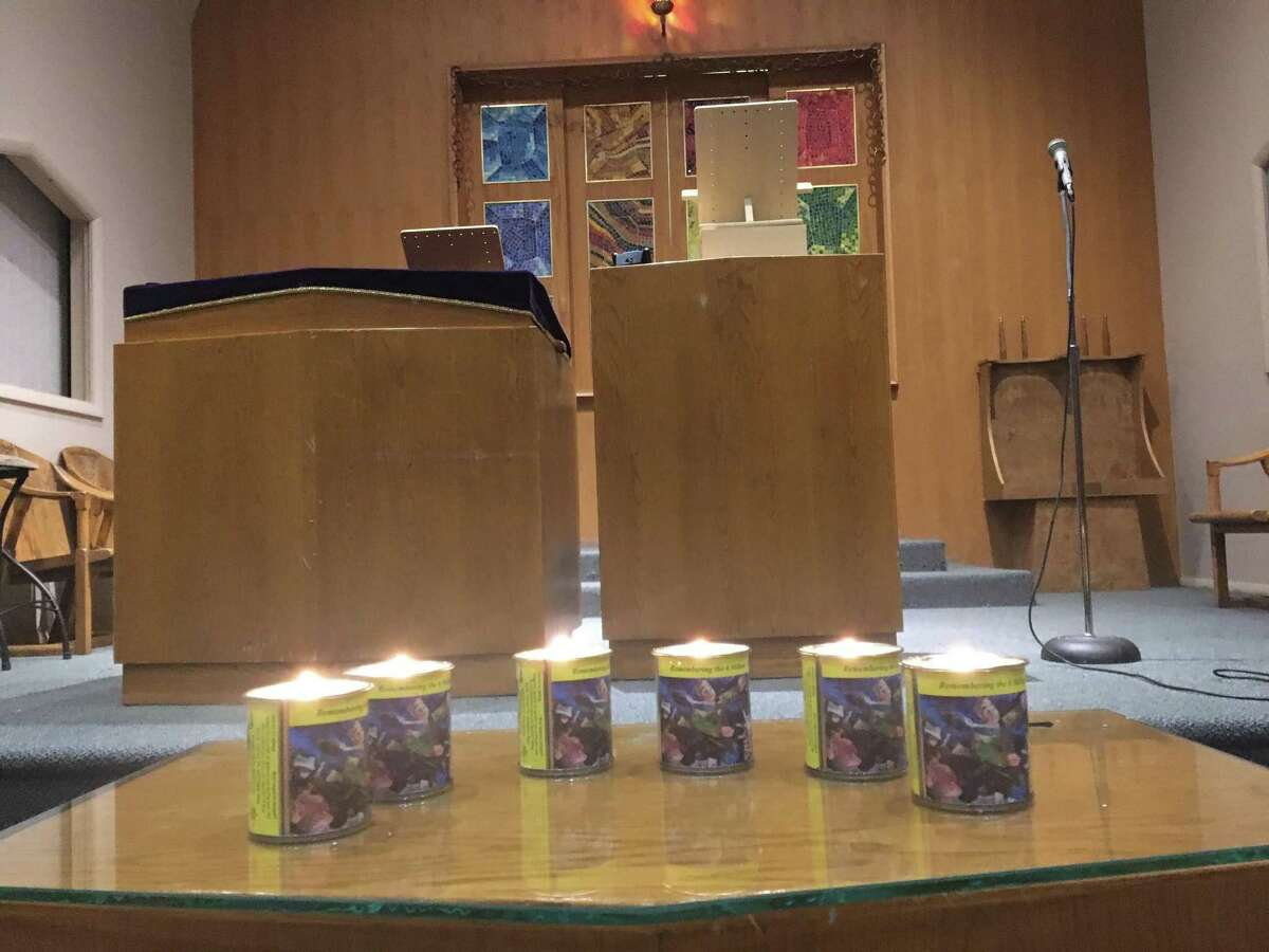 Candles are lit at the United Jewish Center in Danbury for the 6 million Jews killed during the Holocaust. Wednesday marked Holocaust Remembrance Day.