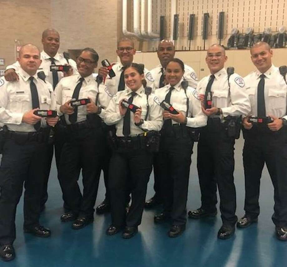 Members from the Houston Police Academy Cadet Class 239 received tourniquets from Memorial Hermann as part of their training on how to use the life-saving tool. Photo: Courtesy Photo