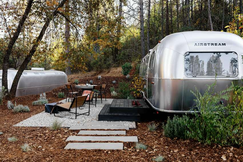 Autocamp's third California location is just outside Yosemite, where you can sleep in a stylish Airstream trailer.