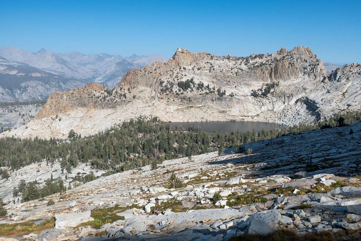 An alpine lake seen along the Yosemite High Route in Yosemite National Park.
