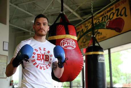 Sports feature on local middle weight boxer Eddie Ortiz at Boxers and Brawlers Gym on Wednesday, Apr. 24, 2019. (Kin Man Hui/San Antonio Express-News)