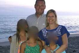 The Hapgood family released a photo of them taken on their April trip to Anguilla.