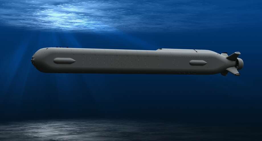 A Boeing rendering of the Orca extra-large unmanned undersea vehicle. Photo: Boeing Graphic