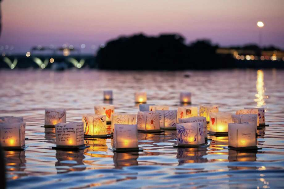 A Water Lantern Festival will come to the Ives Concert Park in Danbury on May 11. Photo: Water Lantern Festival / Contributed Photo