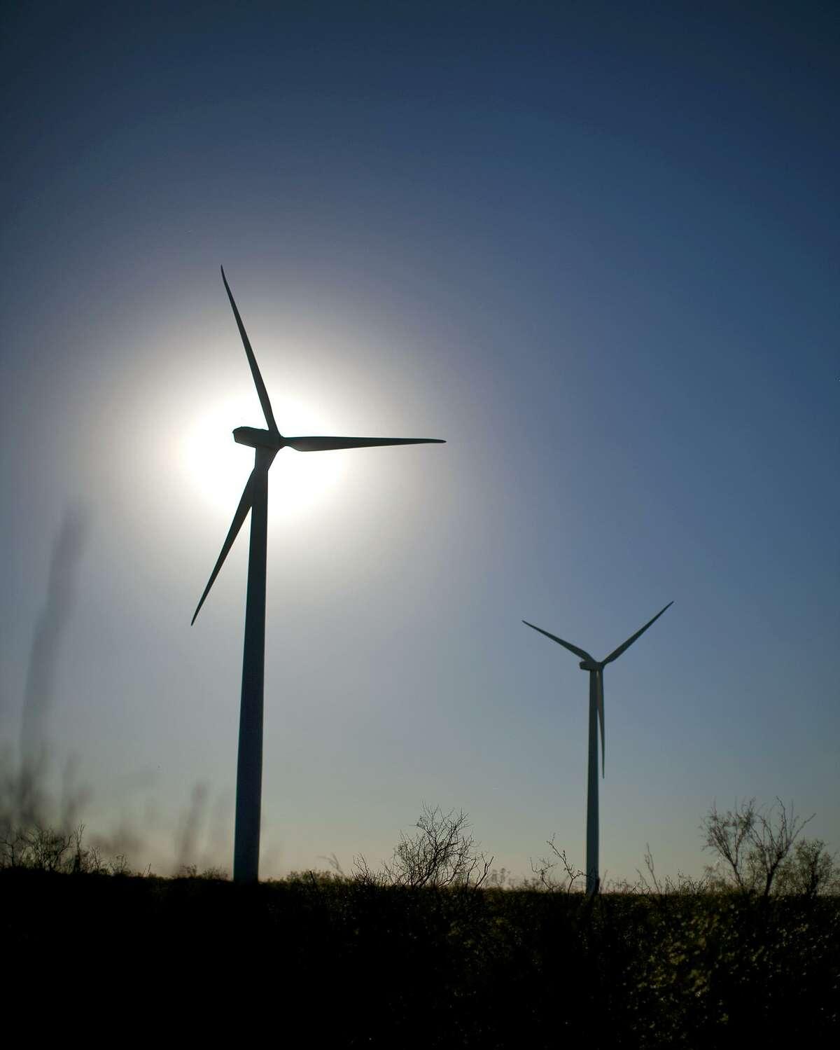 Wind turbines in action Tuesday, Oct. 27, 2015, north of Stanton, Texas. James Durbin/Reporter-Telegram