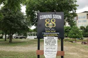 A new food truck park called 88 Social will open this summer at 1009 Ave. B along the Museum Reach of the River Walk, next to the VFW Post 76, in the background.