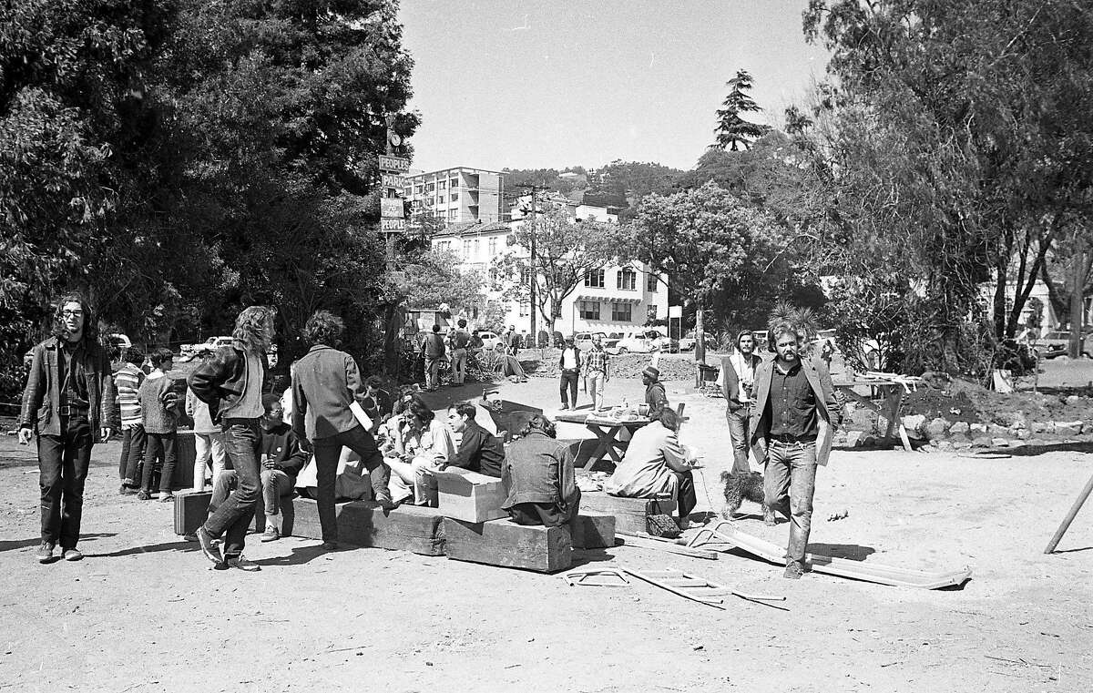 People's Park, an 11-day old park crated by citizens may soon be taken over by the college, University of California at Berkeley, April 30, 1969
