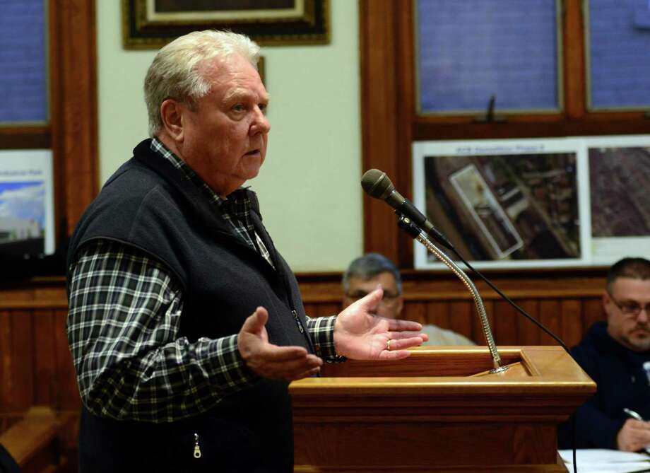 Bart Flaherty, a resident and former Ansonia Planning and Zoning Commission Chairman, urged the WPCA to set aside their differences and work for the people of Ansonia Photo: Christian Abraham / Hearst Connecticut Media / Connecticut Post