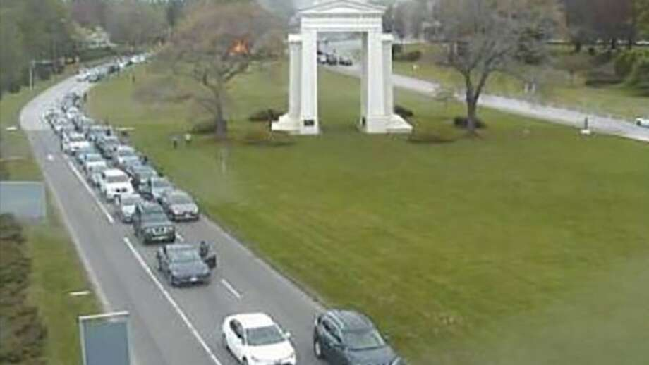 The Peace Arch at the U.S.-Canada border.  Due to the coronavirus, the border has been closed to tourist, recreational and personal travel. Photo: DriveBC Photo