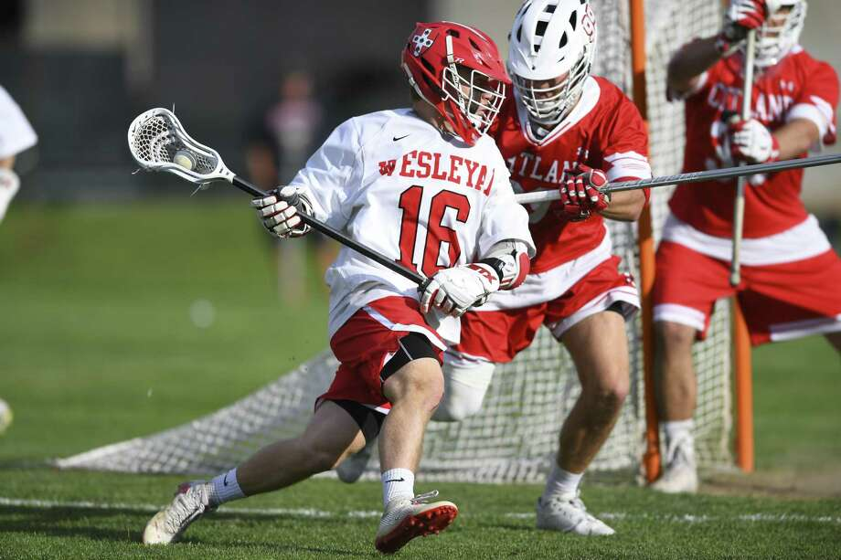 New Canaan's Harry Stanton in action for the Wesleyan men's lacrosse team in 2018. Photo: Submitted Photo
