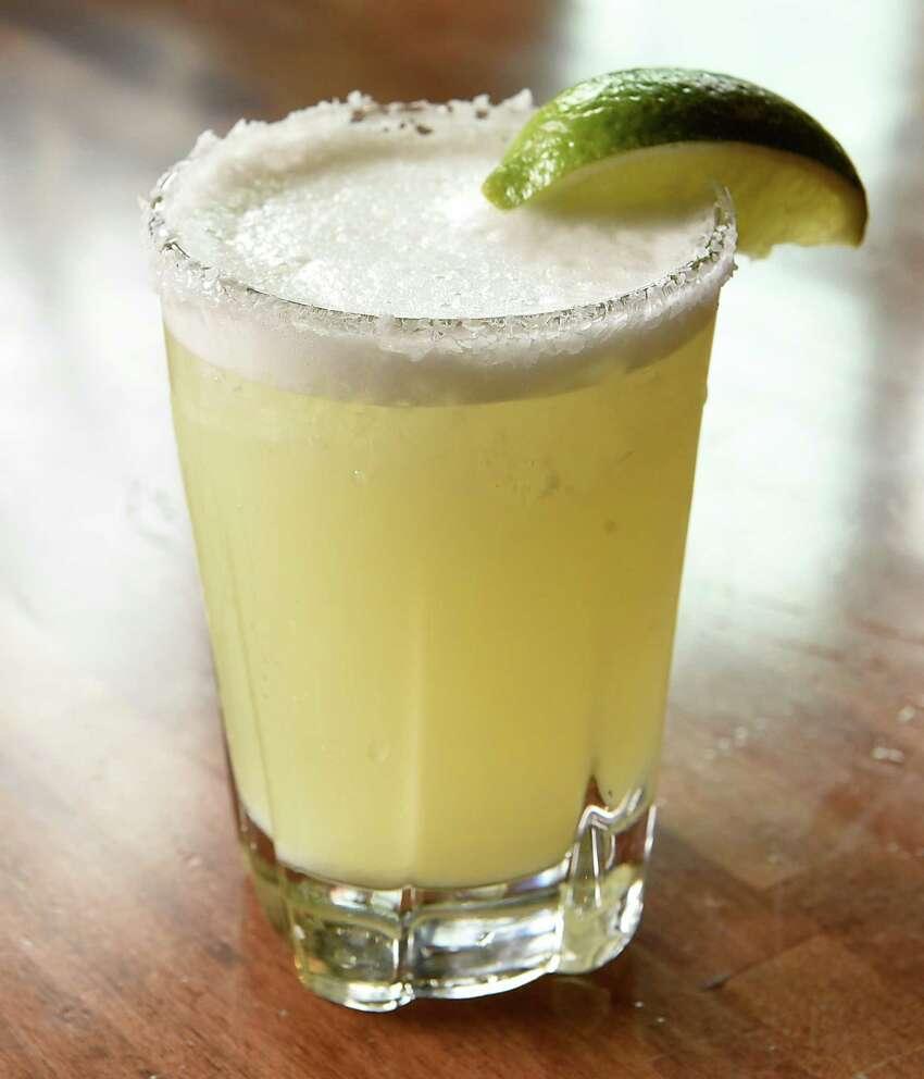 Cantina margarita - Sauza blanco, triple sec and house made margarita mix at Cantina on Tuesday, April 23, 2019 in Saratoga Springs, N.Y. (Lori Van Buren/Times Union)