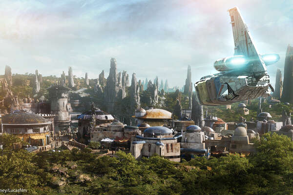 """Galaxy's Edge landscape re-creates the world of the """"Star Wars"""" films, but new things in the Disney land will also be featured in upcoming films. (Disney)"""