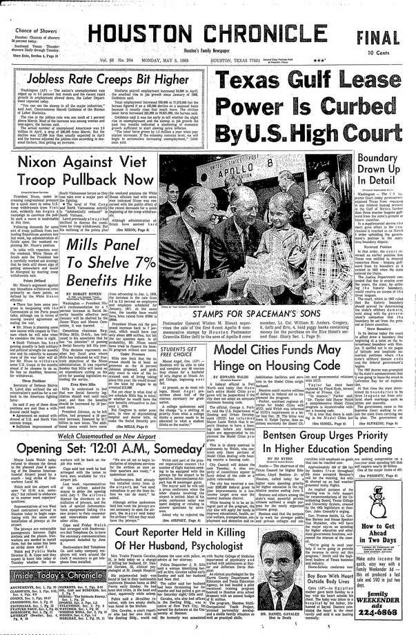 May 5, 1969 Photo: Houston Chronicle