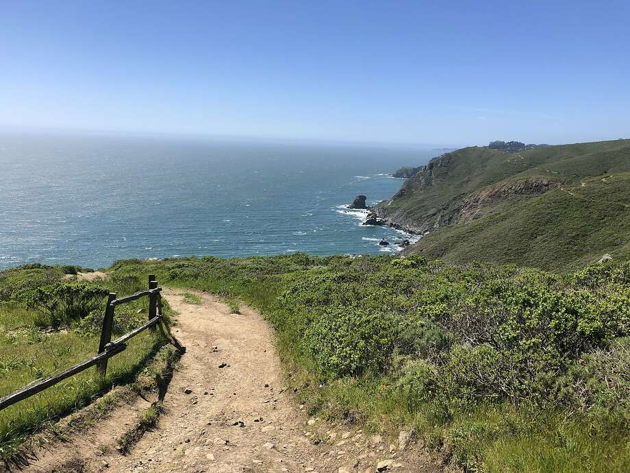 The Coastal Trail snakes along the bluffs between Tennessee Valley and Muir Beach. Photo: Sarah Feldberg / The Chronicle
