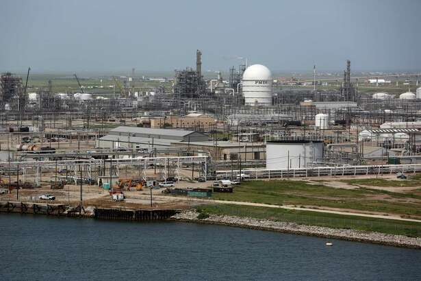 The Dow Chemical Company plant sits across the ship channel from Port Freeport. Dow and Brazos River Authority officials convinced the Legislature to pass a bill forcing Houston to sell its water rights in a proposed reservoir west of Simonton, but a judge ruled the law unconstitutional.