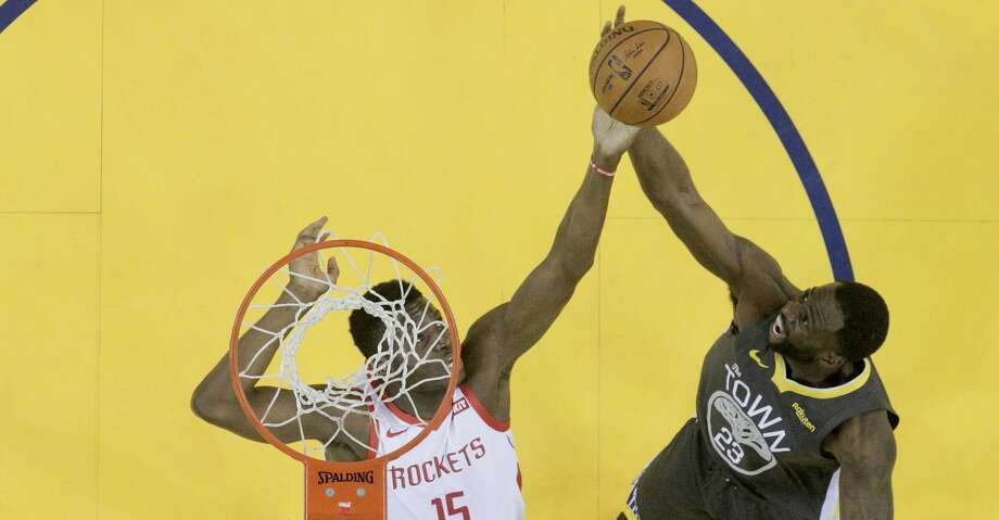 PHOTOS: Rockets game-by-game Houston Rockets center Clint Capela (15) and Golden State Warriors forward Draymond Green (23) fight for a rebound in Game 2 of the NBA Western Conference Semifinals on Tuesday, April 30, 2019 at Oracle Arena. Golden State Warriors won the game 115-109. Browse through the photos to see how the Rockets fared in each game this season. Photo: Elizabeth Conley/Staff Photographer