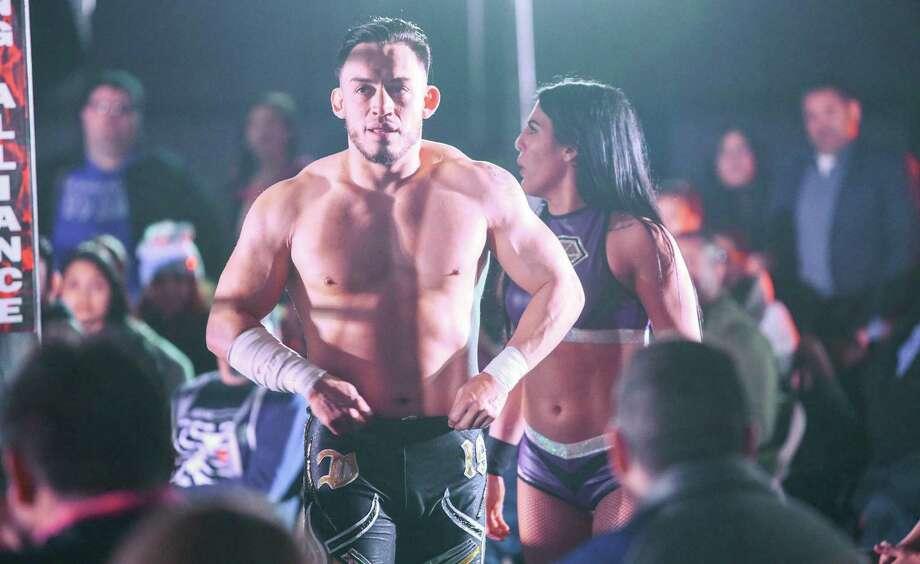 The Laredo Wrestling Alliance champion Daga won the promotion's top belt back at Legacy VII on Nov. 12, 2017. Photo: Danny Zaragoza /Laredo Morning Times File