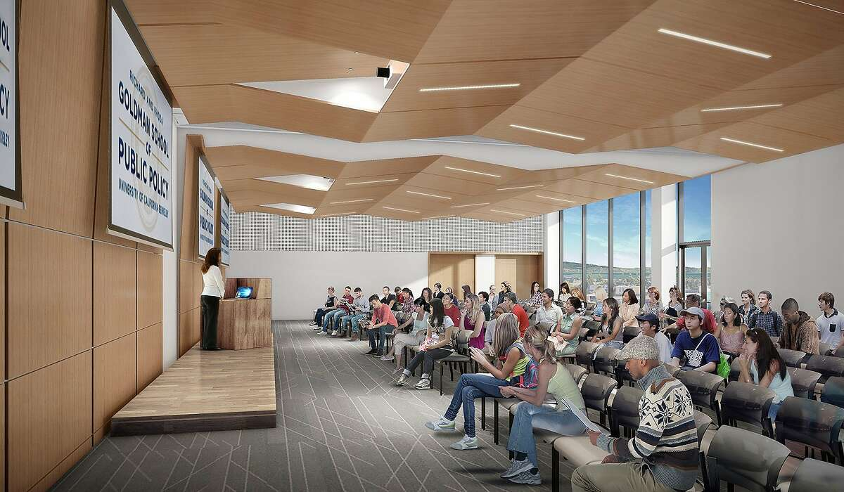 An academic building UC Berkeley wants to build for its Goldman School of Public Policy would include this multipurpose room and event space
