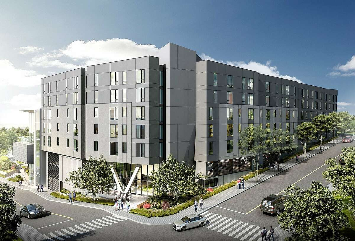 UC Berkeley wants to build 170 faculty units, with parking. Proposed building at corner of Hearst and La Loma avenues looking northwest.
