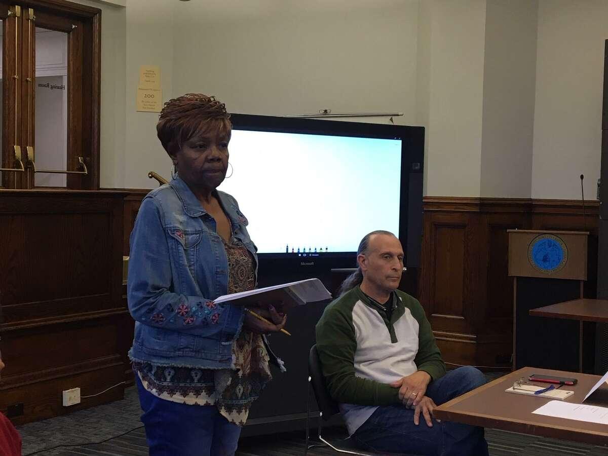 New Haven Republican Registrar of Voters Dolores Knight, left