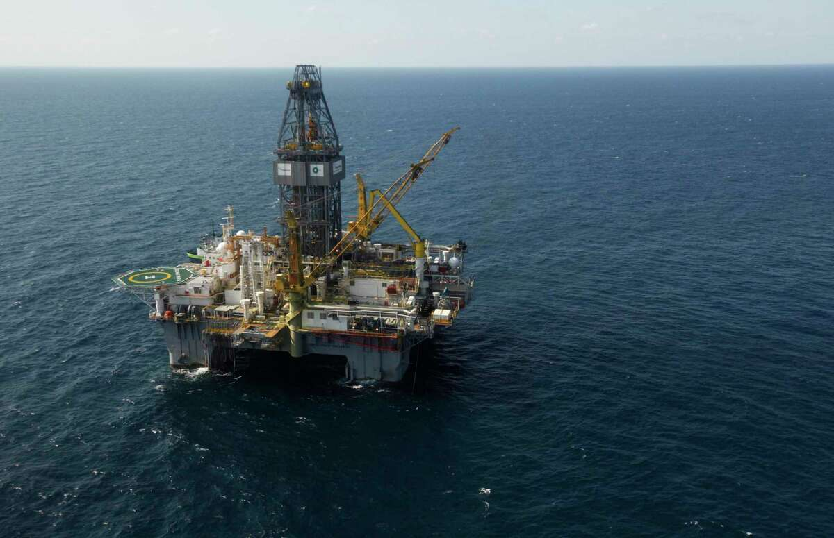 File photo of a Gulf of Mexico offshore platform (not involved in Wednesday incident.) (AP Photo/Gerald Herbert, File)