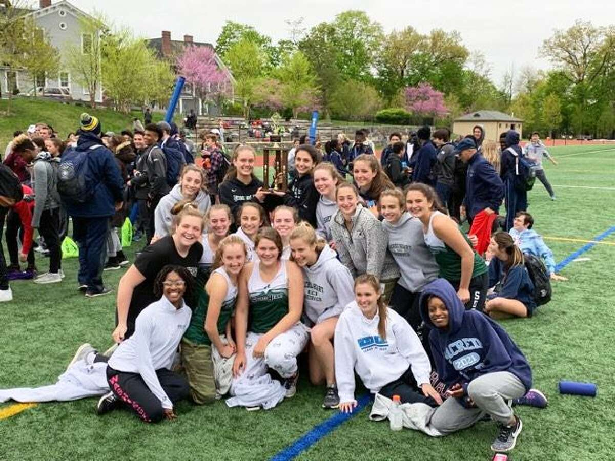 Sacred Heart won the inaugural FAA Track and Field Championships, held Wednesday, May 1, 2019, in Dobbs Ferry, N.Y.