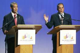 Ron Nirenberg and Greg Brockhouse face off at the KLRN Studios, May 2, in their last debate before the mayoral election. A reader lists reasons Nirenberg is no good for San Antonio.