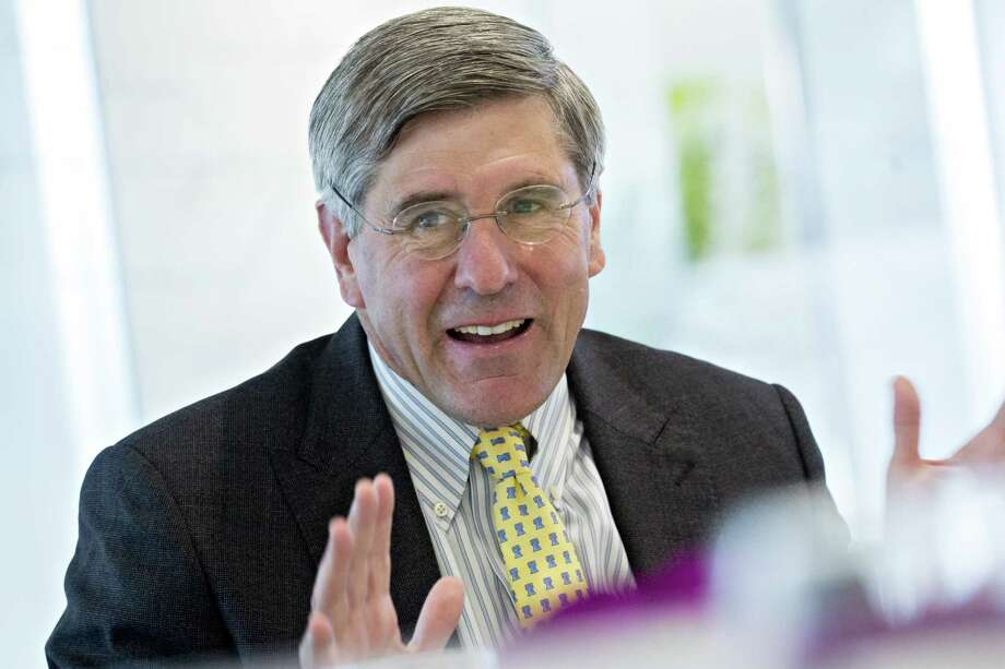 Stephen Moore, visiting fellow at the Heritage Foundation, speaks during an interview in Washington, D.C., U.S., on Thursday, May 2, 2019. President Donald Trump's pick for a seat on the Federal Reserve Board said while he would withdraw from consideration if he becomes a liability from what he called a smear campaign, he doesnt think it will come to that. Photographer: Andrew Harrer/Bloomberg Photo: Andrew Harrer / © 2019 Bloomberg Finance LP
