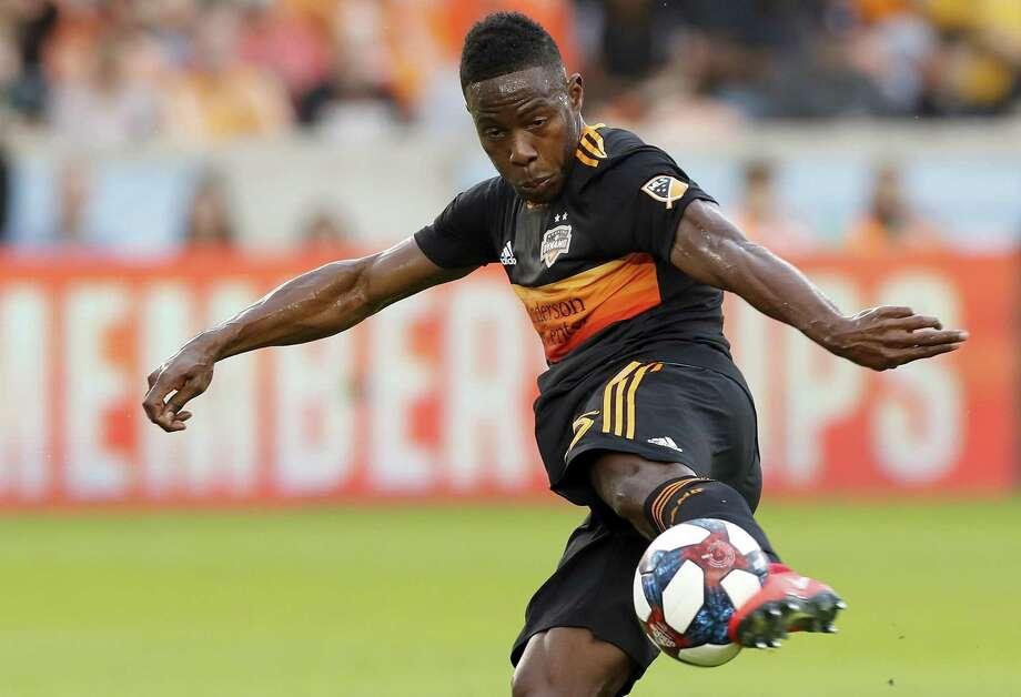 PHOTOS: Dynamo vs. Timbers  FILE PHOTO - Having played with FC Dallas from 2016 to 2018, Dynamo defender Maynor Figueroa gets to see the rivalry from the other side Saturday at BBVA Compass Stadium. >>>See action from the Dynamo's match against the Timbers on Wednesday ...   Photo: Tim Warner, Houston Chronicle / Contributor / ©Houston Chronicle